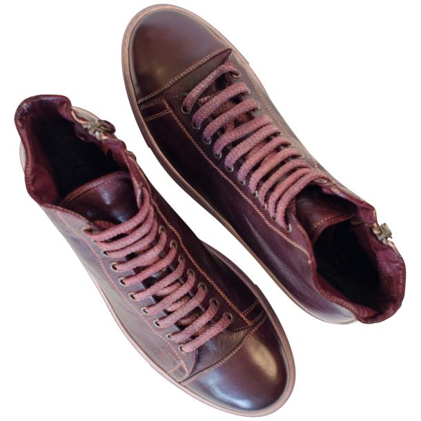Nova Dip Dyed Oxblood High Top Sneaker full-size #2