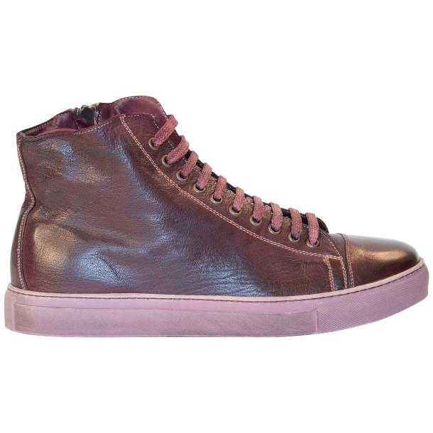 Nova Dip Dyed Oxblood High Top Sneaker full-size #4