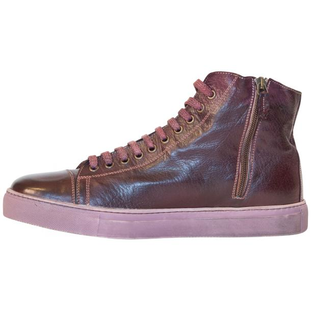 Nova Dip Dyed Oxblood High Top Sneaker full-size #6