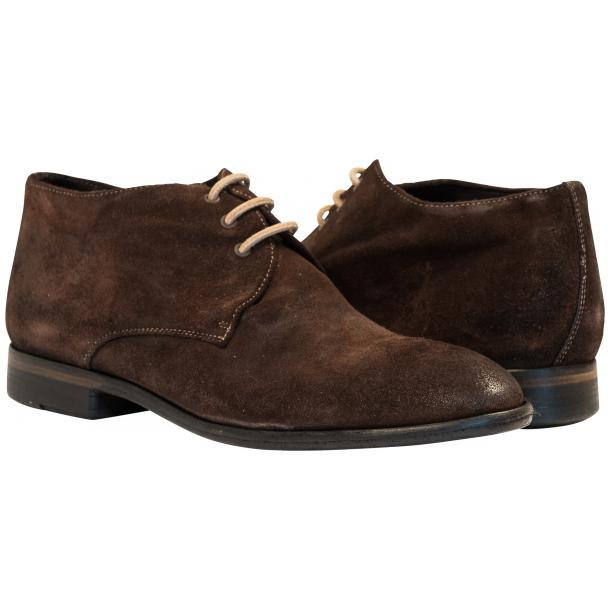 Cala Chocolate Brown Suede Dip Dyed Desert Chukka Boots full-size #1