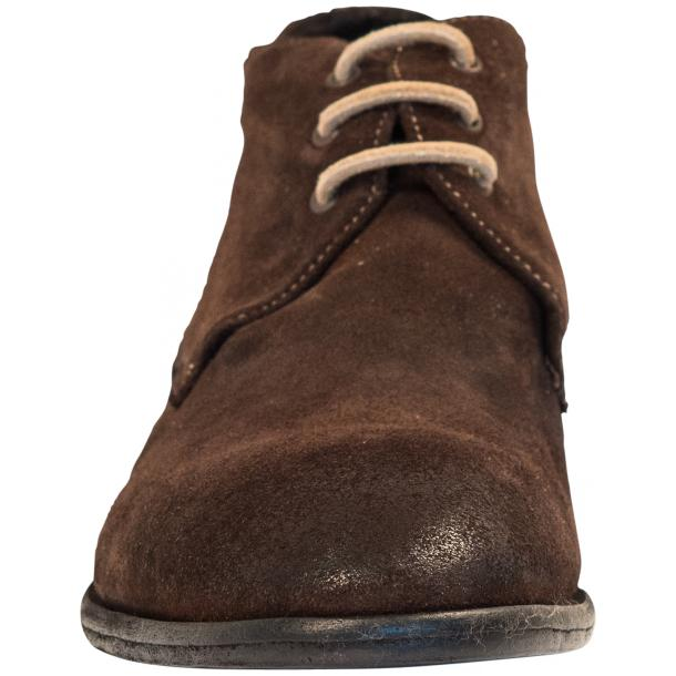 Cala Chocolate Brown Suede Dip Dyed Desert Chukka Boots full-size #3