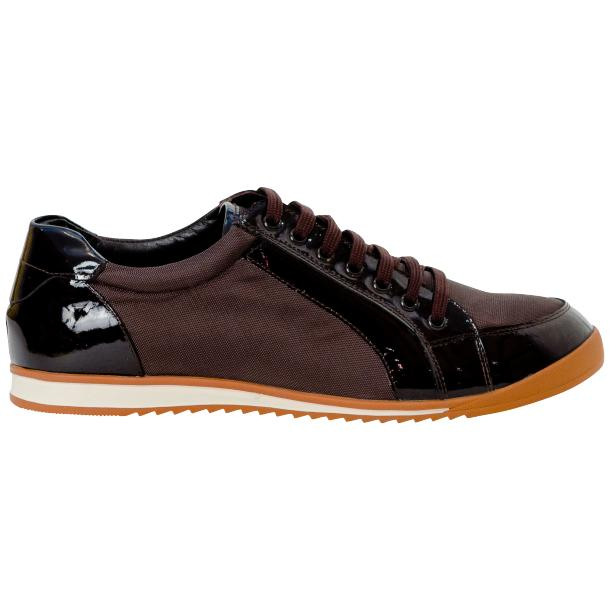 Paola Brown Patent Leather Low Top Sneakers  full-size #4