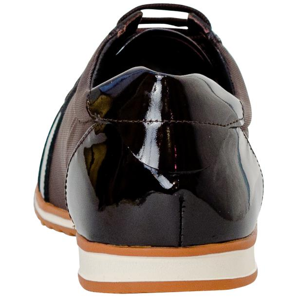 Paola Brown Patent Leather Low Top Sneakers  full-size #5