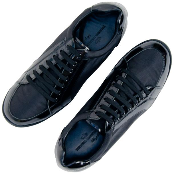Paolo Black Patent Leather Low Top Sneakers  full-size #2