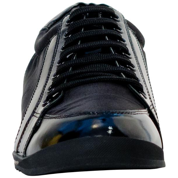 Paolo Black Patent Leather Low Top Sneakers  full-size #3
