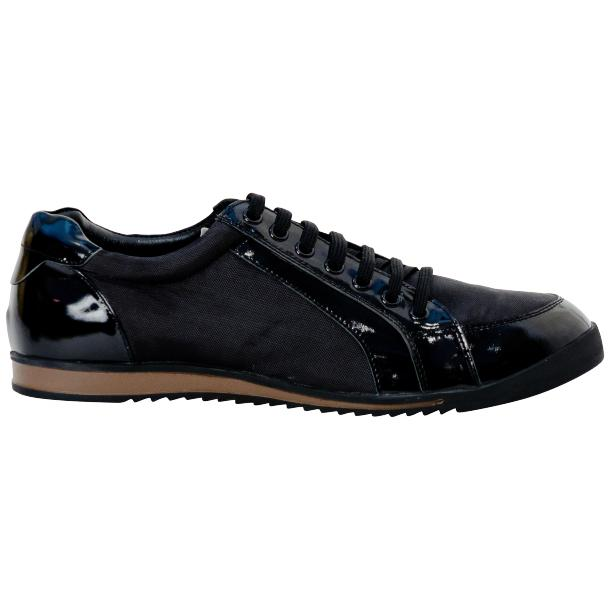 Paolo Black Patent Leather Low Top Sneakers  full-size #4