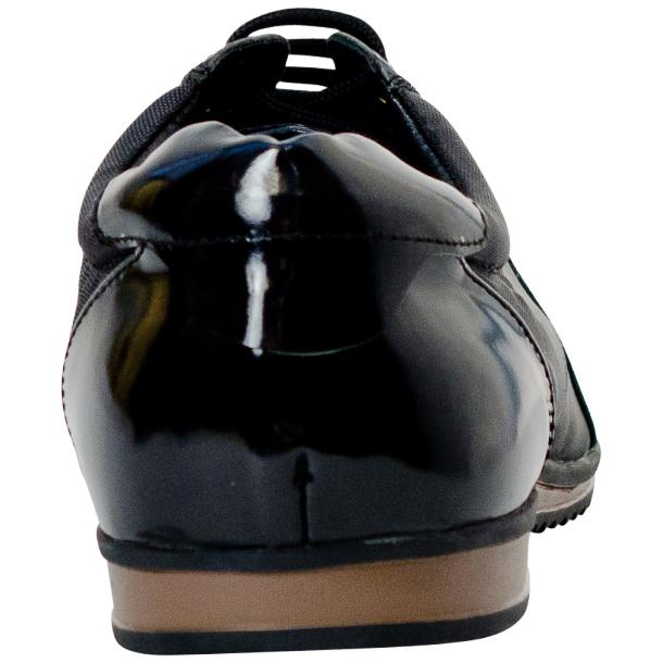 Paolo Black Patent Leather Low Top Sneakers  full-size #5