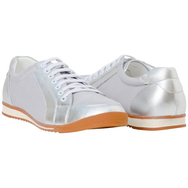 Paola Silver Patent Leather Low Top Sneakers  full-size #1