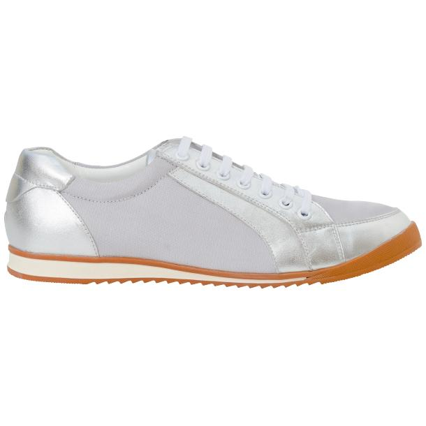 Paola Silver Patent Leather Low Top Sneakers  full-size #4
