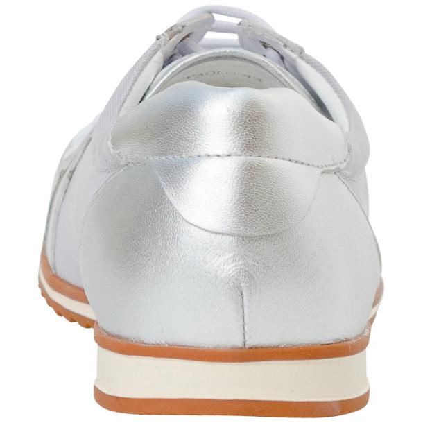 Paola Silver Patent Leather Low Top Sneakers  full-size #5