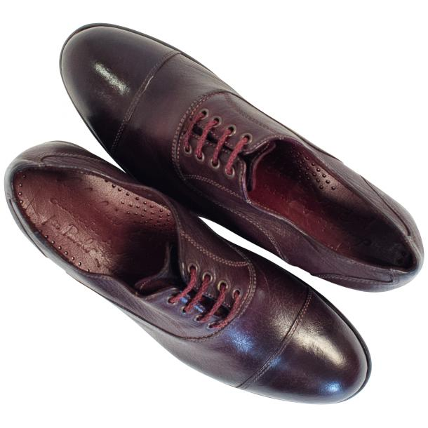 Melissa Dip Dyed Oxblood Red Leather Oxford Lace Up Shoes full-size #2