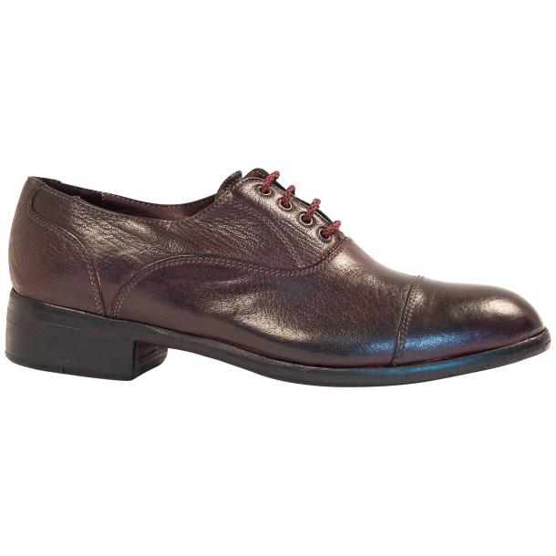 Melissa Dip Dyed Oxblood Red Leather Oxford Lace Up Shoes full-size #4