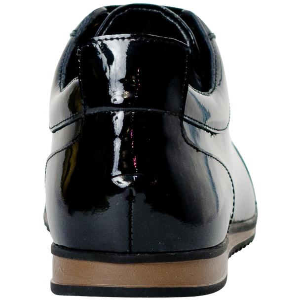 Britney Black Patent Leather Low Top Sneakers full-size #5