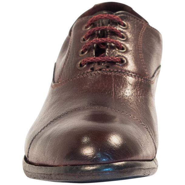 Melissa Dip Dyed Oxblood Red Leather Oxford Lace Up Shoes full-size #3