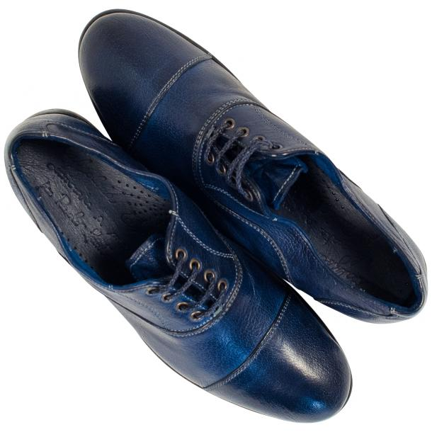 Melissa Dip Dyed Blue Leather Oxford Lace Up Shoes full-size #2