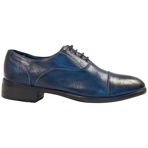 Melissa Dip Dyed Blue Leather Oxford Lace Up Shoes full-size #4