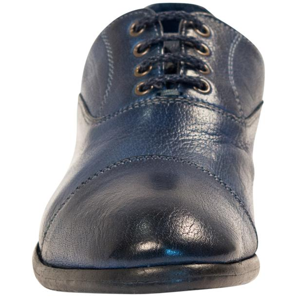 Melissa Dip Dyed Blue Leather Oxford Lace Up Shoes full-size #3