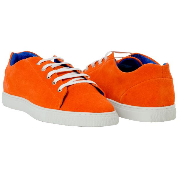Piper Orange Suede Low Top Sneakers  full-size #1