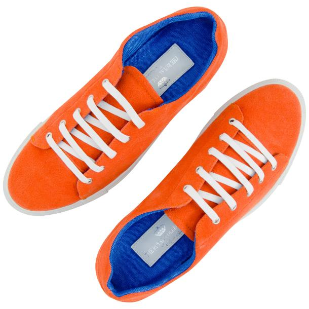 Piper Orange Suede Low Top Sneakers  full-size #2