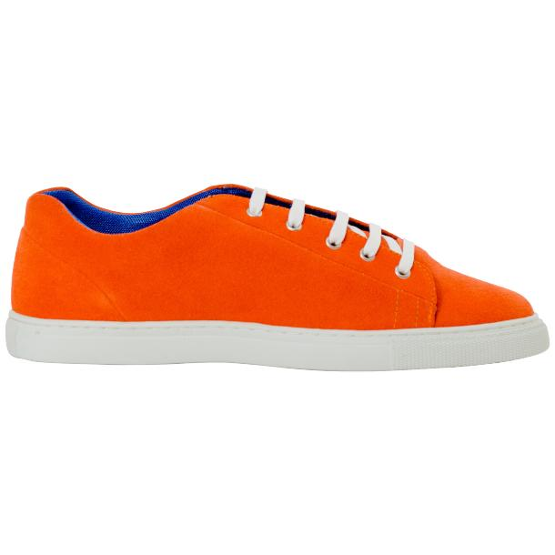 Piper Orange Suede Low Top Sneakers  full-size #4