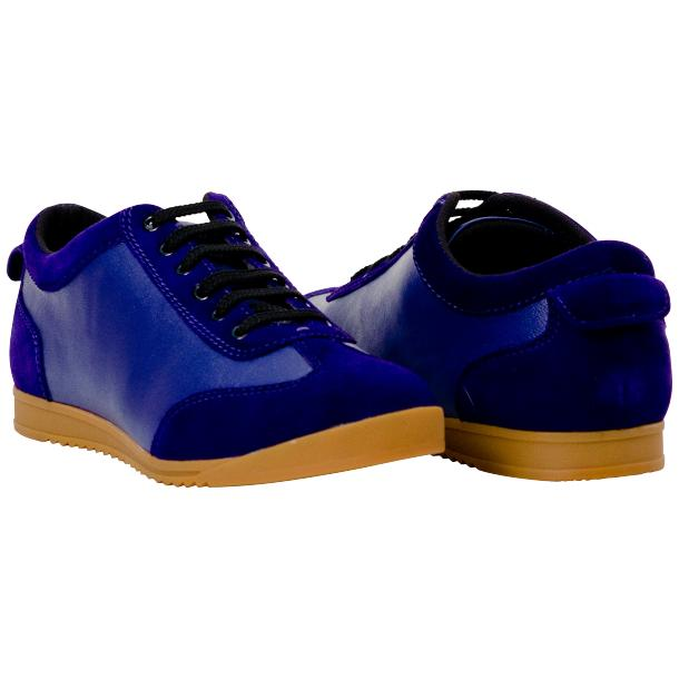 Gigi Royal Blue Two Tone Nappa Leather Low Top Sneakers  full-size #1