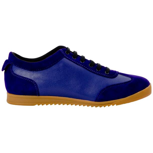 Gigi Royal Blue Two Tone Nappa Leather Low Top Sneakers  full-size #4