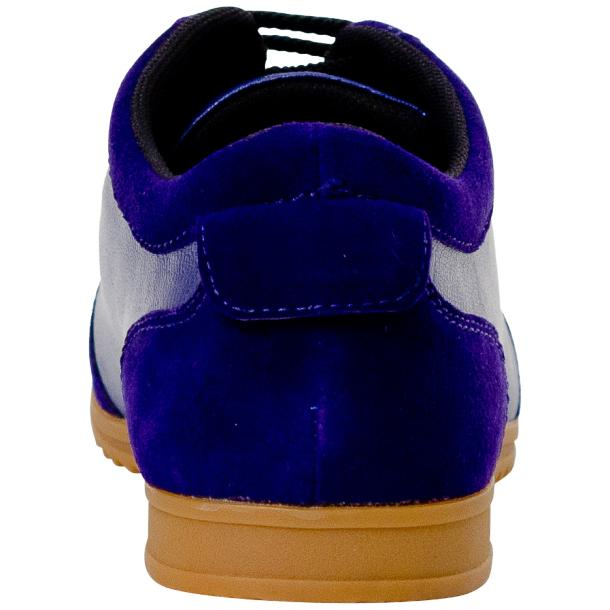 Gigi Royal Blue Two Tone Nappa Leather Low Top Sneakers  full-size #5