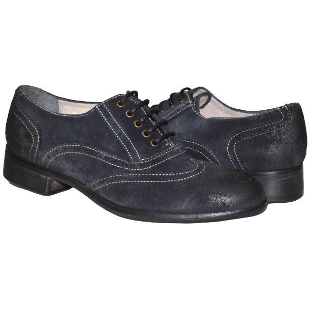 Denise Dip Dyed Graphite Wingtip Lace Up Nubuck Oxford Shoes full-size #1