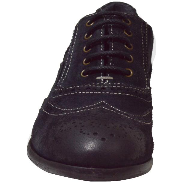 Denise Dip Dyed Graphite Wingtip Lace Up Nubuck Oxford Shoes full-size #2