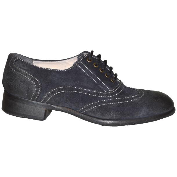 Denise Dip Dyed Graphite Wingtip Lace Up Nubuck Oxford Shoes full-size #3