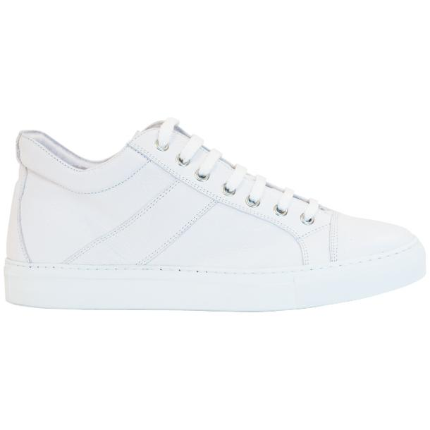Seth Dip Dyed White Low Top Sneakers  full-size #4