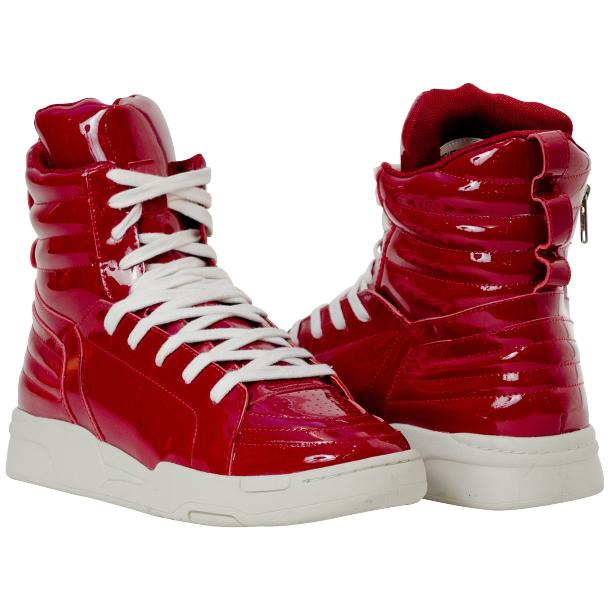Breakin' Royal Red Patent Leather High Top Sneakers full-size #1
