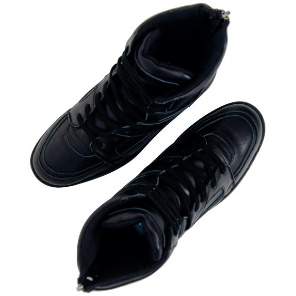 Rockstar Engine Black Nappa Leather High Top Sneakers full-size #2