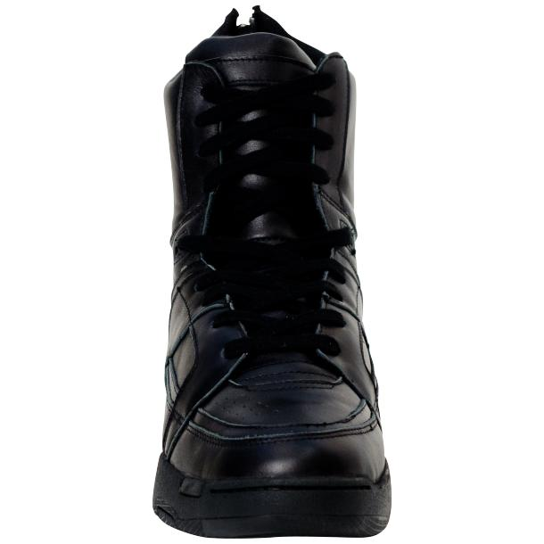 Rockstar Engine Black Nappa Leather High Top Sneakers full-size #3
