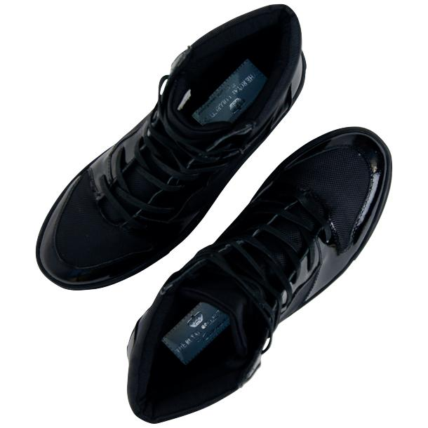 Celine Black Patent Leather High Top Sneakers full-size #2