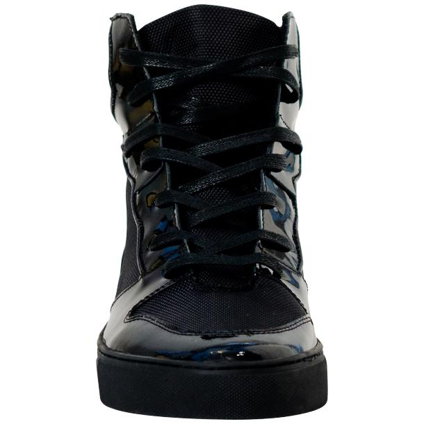 Celine Black Patent Leather High Top Sneakers full-size #3