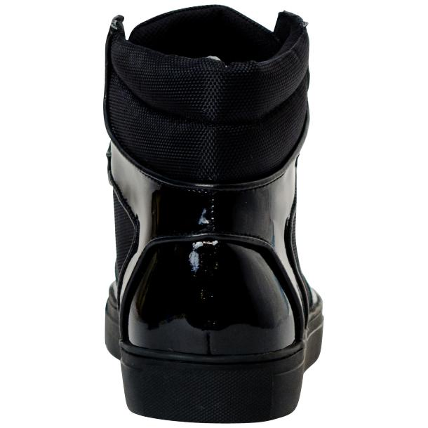 Celine Black Patent Leather High Top Sneakers full-size #5