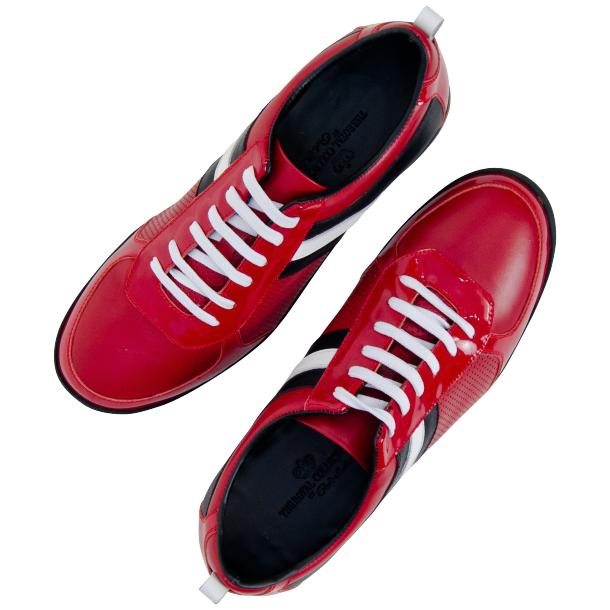 Coco Red Two Tone Nappa Leather Low Top Sneakers full-size #2