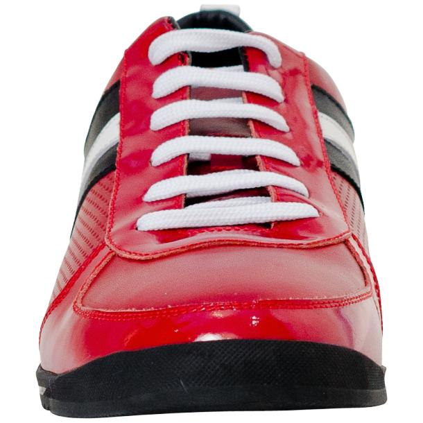 Coco Red Two Tone Nappa Leather Low Top Sneakers full-size #3