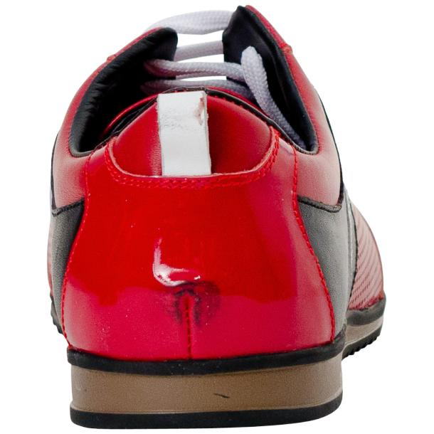 Coco Red Two Tone Nappa Leather Low Top Sneakers full-size #5