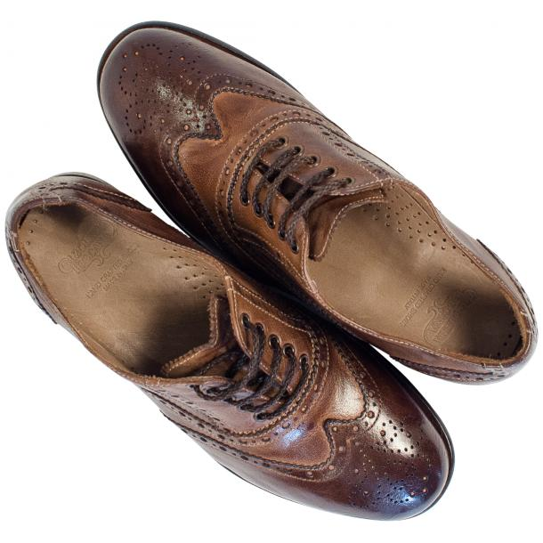 Ashley Dip Dyed Brown Moor Leather Oxford Lace Up Shoes full-size #2