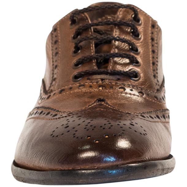 Ashley Dip Dyed Brown Moor Leather Oxford Lace Up Shoes full-size #3