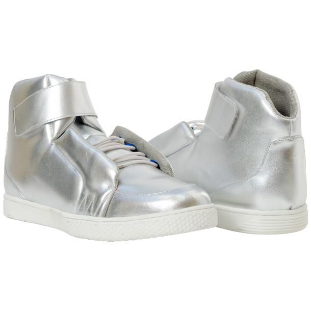 Jackie Silver Nappa Leather High Top Sneakers  full-size #1