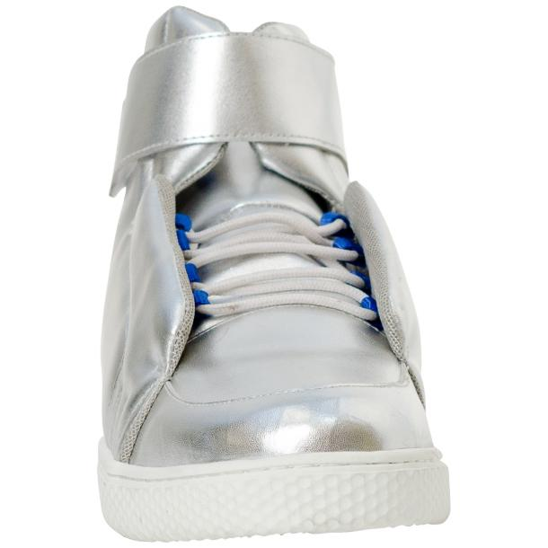 Jackie Silver Nappa Leather High Top Sneakers  full-size #3