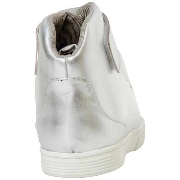 Jackie Silver Nappa Leather High Top Sneakers  full-size #5