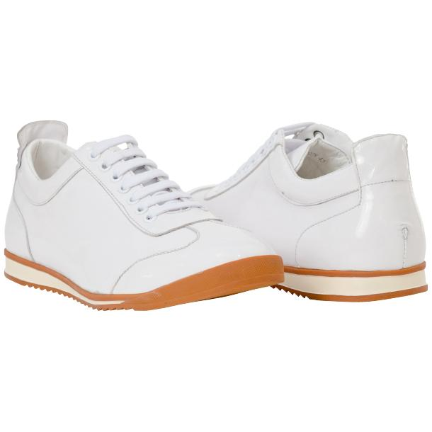 Bronson White Nappa Leather Low Top Sneakers full-size #1