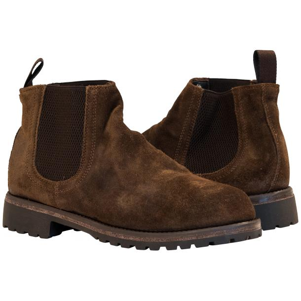 Zaza Brown Suede Chelsea Pull on Boots  full-size #1