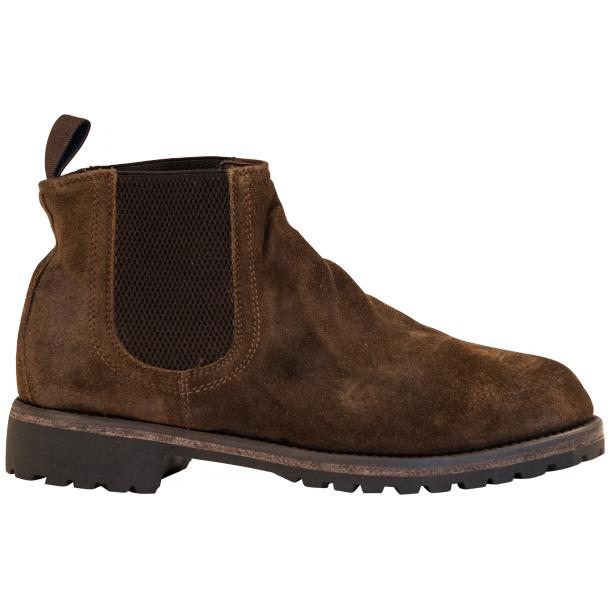 Zaza Brown Suede Chelsea Pull on Boots  full-size #4