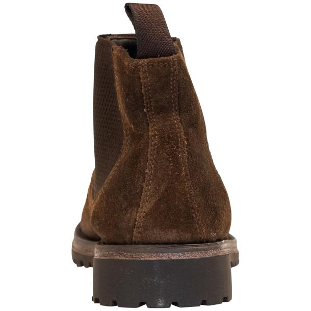 Zaza Brown Suede Chelsea Pull on Boots  full-size #5