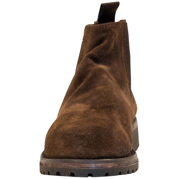 Zaza Brown Suede Chelsea Pull on Boots  full-size #3
